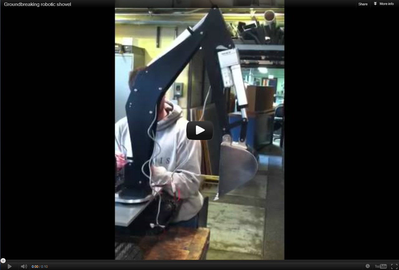 Groundbreaking robotic shovel at ECE ILLINOIS