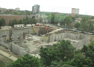 Progress on the ECE new building, as of May 2012.