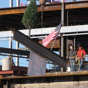 Topping out ceremony, December 14, 2012