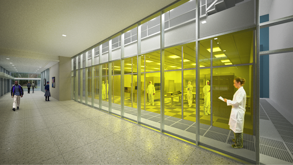 A rendering of the Nano Lab.